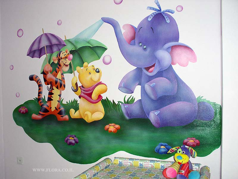 Wall paintings for Baby rooms - Winnie-the-Pooh
