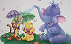 Wall paintings for Baby rooms - Winnie-the-Pooh, Tigger and Heffalump.