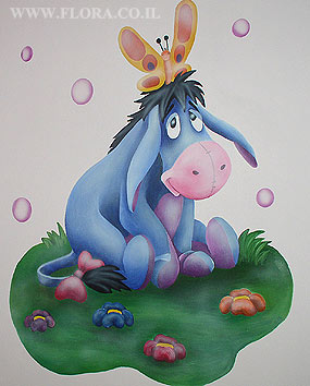Wall paintings for Baby rooms - Eeyore from Winnie the Pooh..   click here to zoom picture