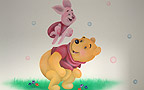 Winnie-the-Pooh and Piglet - baby room murals. Location: Holon. Muralist: Flora.