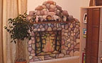Interior design - Fireplace painting