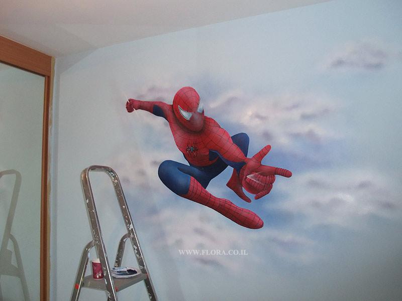 flora murals kids rooms wall murals spiderman spiderman xl prepasted chair rail wall mural