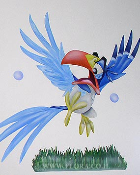 Wall paintings in Baby Rooms – Simba and Zazu.   click here to zoom picture