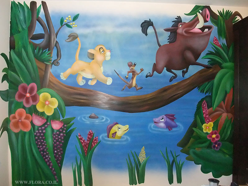 Simba   Kid`s Room Murals. Wall Paintings In Baby Rooms U2013 Painting The Lion  King Simba. Location: Ashdod.