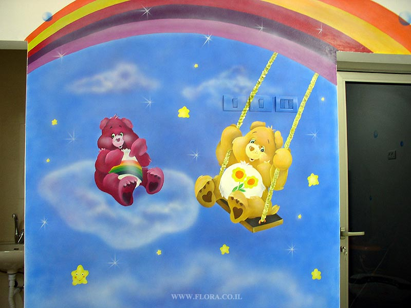 Wall painting - Care Bears (Funshine Bear)