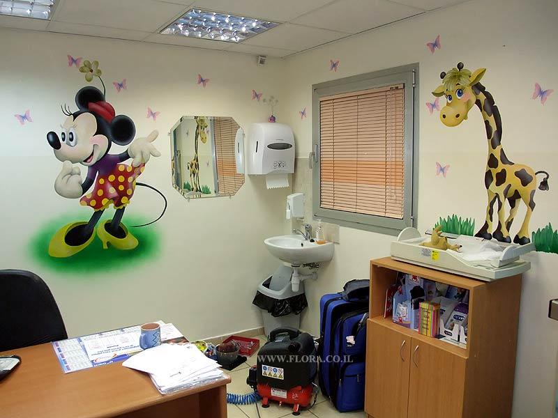 flora murals interior design pediatric office murals minnie