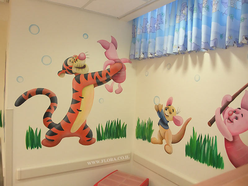 Pediatric Office Murals. Wall Painting Of Tigger And Piglet From Winnie The  Pooh Story. Part 43