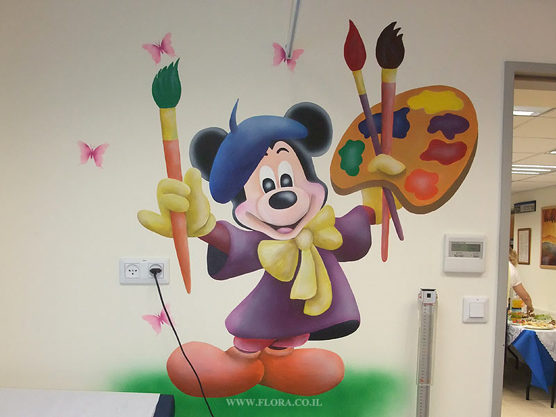 Flora Murals Interior Design Wall Painting Of Mickey Mouse