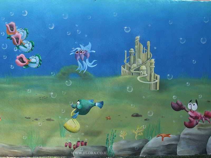 Underwater Mermaid Castle The Little Mermaid - Ariel in