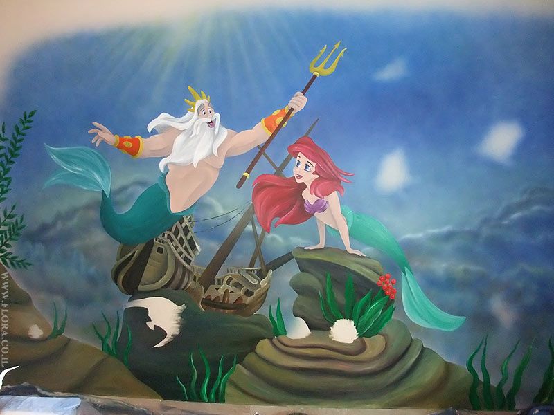 Little mermaid wall murals image search results for Ariel wall mural