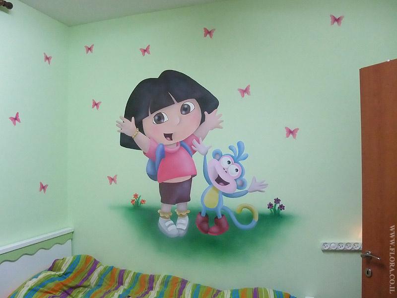 dora wall mural