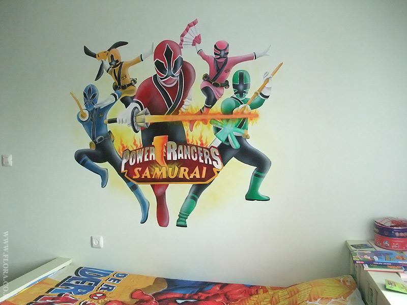 Flora Murals Kids Rooms Power Rangers Samurai Wall Mural Kids
